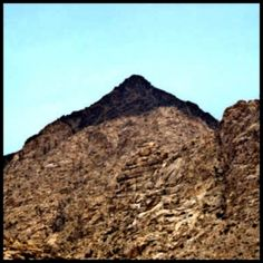 A modern day discovery of the real Mount Sinai! The upper 200 feet of Jebel el Lawz is burned black, as you can see in the photo. The Saudi Government...