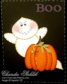 halloween punch card ghost