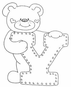 4 Modelos de Alfabeto Completo para Colorir e Imprimir - Online Cursos Gratuitos Felt Patterns, Applique Patterns, Colouring Pics, Coloring Books, Coloring Letters, Alphabet Templates, Embroidery Alphabet, Sewing Appliques, Alphabet And Numbers