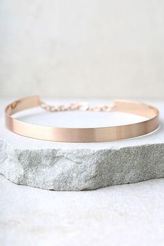 #AdoreWe #lovelulus Lulus Dearly Beloved Rose Gold Choker Necklace - AdoreWe.com
