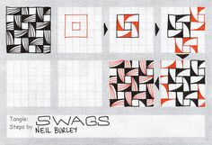 Tangle pattern: Swags