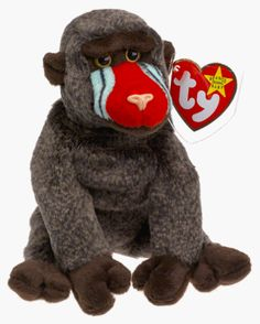 Ty Beanie Babies - Cheeks the Baboon - Retired TY http   www. 2a75cbace71b