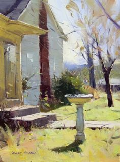 Leipers Creek Morn, USA • 10x7, oil by Colley Whisson///This could have been my house where I grew up. Note by Roger Carrier
