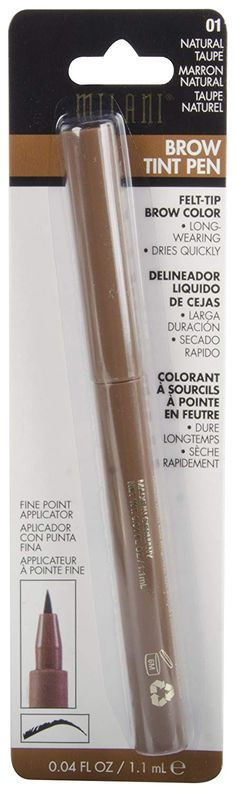Milani Brow Tint Pen, Natural Taupe, Fluid Ounce Fine point applicator allows for controlled precise brow styling Fills in sparse brows Soft matte finish Dries quickly. Blonde Eyebrows, Eyebrow Stencil, Brow Color, How To Color Eyebrows, Brow Tinting, Milani, Eyebrow Makeup, Makeup Brush Set, Beauty Shop