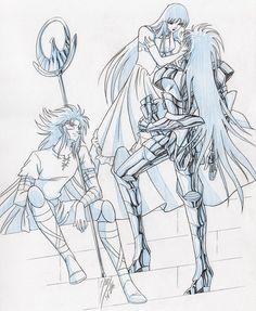Saga, Kanon y Athena by Paola
