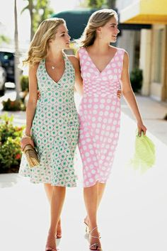 """""""In 2007, Lilly Pulitzer returned to its socialite roots when it named Amanda Hearst and Lauren Bush as the new faces of the label. Said James Bradbeer, president of the company at the time, 'They have an elevated taste level which marries well with our authentic Palm Beach design philosophy.' """" Image: Lilly Pulitzer/PR Newswire/Newscom """"Lilly Pulitzer's Flower Power"""" by Michael Solomon. Elle Decor."""