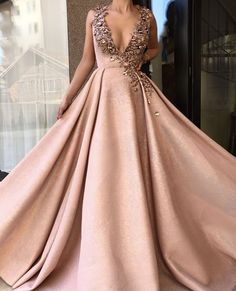 Hot V Neck Prom Dresses,Sweep Train Evening Gown,Sexy Formal Dress,Beaded Prom Dresses,Sexy Party Dress,Custom Made Evening Dress