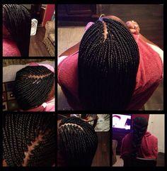 small box braids styles