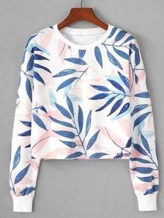 Women Cute Print Crop top Sweatshirt As picture 2 / S Girls Fashion Clothes, Teen Fashion Outfits, Outfits For Teens, Crop Top Outfits, Cute Casual Outfits, Girls Crop Tops, Mode Top, Crop Top Hoodie, Printed Sweatshirts