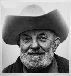 While Ansel Adams was known for his nature photography, he also shot this self-portrait.