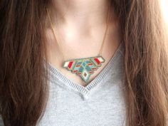 Collier plastron perles Miyuki plaqué or via My-French-Touch. Click on the image to see more!