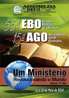 A Assembléia de Deus Abreu e Lima realizará a 55ª EBO e 15ª AGO.