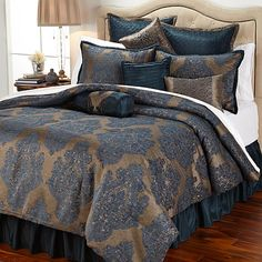 Highgate Manor Victoria 10-piece Comforter Set - Navy | HSN at ...