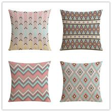 Fashion Nordic Geometric Style Houseware Home Decorative Cojines Sofa Bed Pillow Throw Linen Cotton Pillow Cushion Almofadas(China (Mainland))