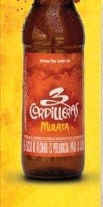 Cerveja 3 Cordilleras Mulata, estilo American Amber Ale, produzida por 3 Cordilleras, Colômbia. 5.2% ABV de álcool.