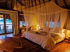 Over water bungalow room in Tahiti