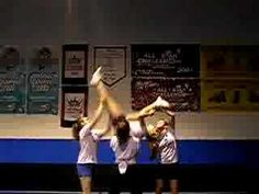 Creative transition for a stunt! #cheerleading