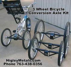 3 wheel bike conversion axel kit