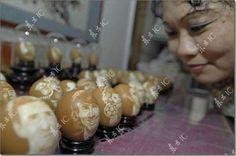 cosas hechas con cascaras de huevos y naranjas