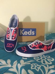 Hand painted Keds/Toms  Tusk in the Sun SHOES by Kreations4UbyKT, $75.00