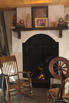 Step back in time inside with a visit to our 'Weavers Cottage' at Triona Design's Donegal Tweed Visitor Centre #weaverscottage #irishcottage #donegaltweedvisitorcentre #ardara #donegal #cottage #spinningwheel #weaving #donegaltweed Irish Cottage, Donegal, Cottage Ideas, Tweed, Centre, Ireland, Weaving, Design, Home Decor
