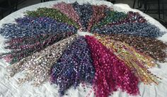 Crocheted Necklace Scarves My color wheel of scarves for sale. $15.00 each. Color of your choice.