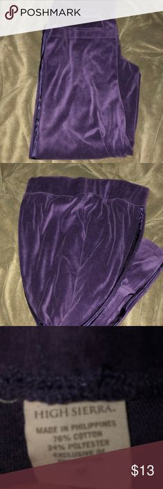 2d8fd997fda VELOUR PURPLE PANTS Bought on depop On the depop description it stated it  was thrifted.