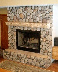 Rock fireplaces and River stones
