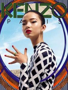 Xiao Wen Ju   @ Kenzo F/W 12 Accessories Campaign (Kenzo)