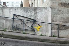 いつもの道に、思わずクスッとしちゃうストリートアートをみつけたよ | roomie(ルーミー)