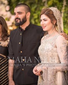 HD Walima Clicks of Hamza Ali Abbasi and Naimal Khawar Bridal Mehndi Dresses, Walima Dress, Pakistani Wedding Outfits, Pakistani Bridal Dresses, Pakistani Wedding Dresses, Pakistani Dress Design, Beautiful Girl Image, Pakistani Actress, Couple Outfits