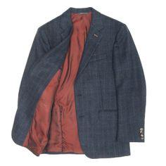 d2983458ad542 Khaki s of Carmel - j. lawrence - navy cashmere check sport coat - sport  coats