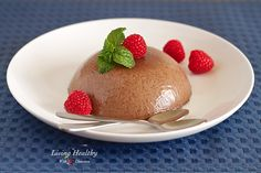 Chocolate Raspberry Panna Cotta Recipe (Dairy Free, Paleo) by LivingHealthyWithChocolate.com
