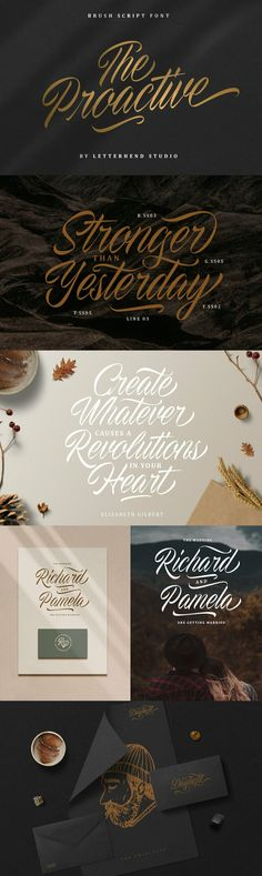 Proactive - Not just another script typeface. In fact, it's a one of a kind script typeface! What makes it special is this typeface was made from original hand writing and transformed into a font. So you don't have to be an expert to be a hand lettering artist, you can just use this fon...
