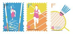 London 2012 Olympics Stamp Collection by Charlotte Estelle Littlehales