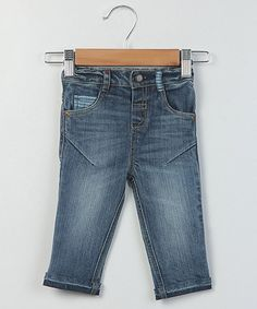 Another great find on #zulily! Blue Denim Fold-Over Cuff Jeans - Infant, Toddler & Boys #zulilyfinds