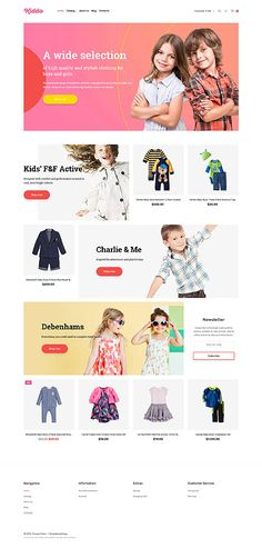 Kid's Trendy Clothing Online Store #Virtuemart #template. #themes #business #responsive