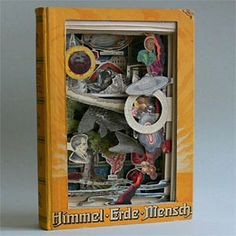 Himmel, Erde, Mensch, book sculpture, by Nicholas Jones.