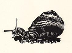 snail - linocut - Nick Morley, U.K.