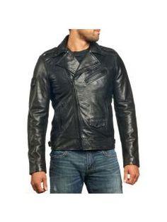 7c237396c62 Pánská kožená bunda Affliction Top Legend