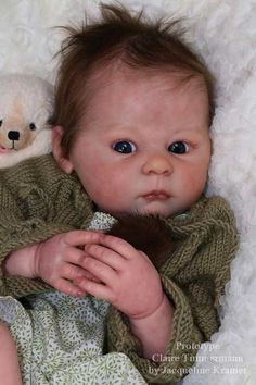 Items similar to CUSTOM MADE Reborn Doll Baby Girl or boy Claire by Ann Timmerman 22 inches Full Limbs lbs . (Reborn Babies) on Etsy Reborn Baby Girl, Reborn Babypuppen, Reborn Doll Kits, Newborn Baby Dolls, Baby Boy, Real Baby Dolls, Realistic Baby Dolls, Baby Girl Dolls, Boy Doll