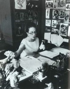 Diana Vreeland's desk at Vogue