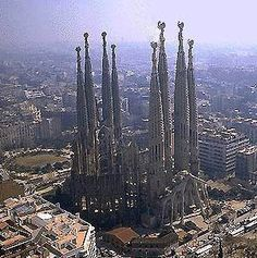 sagrada familia. Look at the size of that church! Simply stunning!!!! Best creation to see in the world! Barcelona Spain. -KPP