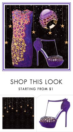 """""""Purple dress"""" by cheeseburger-jones ❤ liked on Polyvore featuring Sergio Rossi"""