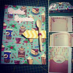 Caderno de receitas personalizado. Tudo feito à mão e com muito amor!