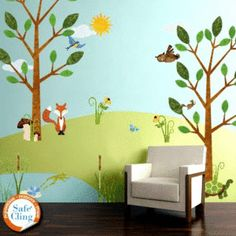 Nourish your children's love of the outdoors with these wall decals and other affordable ideas for a nature-themed kids' room.