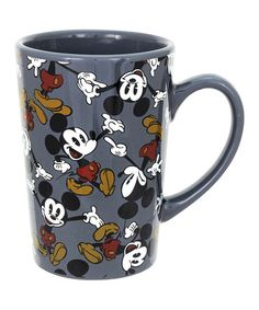 Another great find on #zulily! Gray Mickey Mouse Mug - Set of Four #zulilyfinds