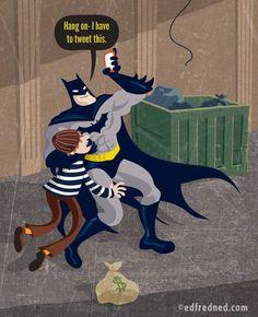 edfredned's sketch blog: How Superheroes Use Social Media.  Purchase on Etsy: https://www.etsy.com/shop/EDFREDNED