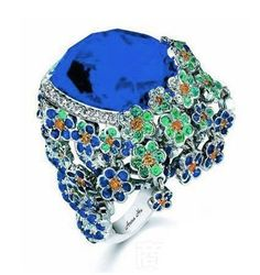 Anna Hu forget-me-sapphire ring