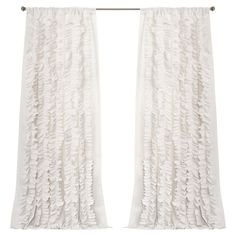 Paige Curtain Panel in White